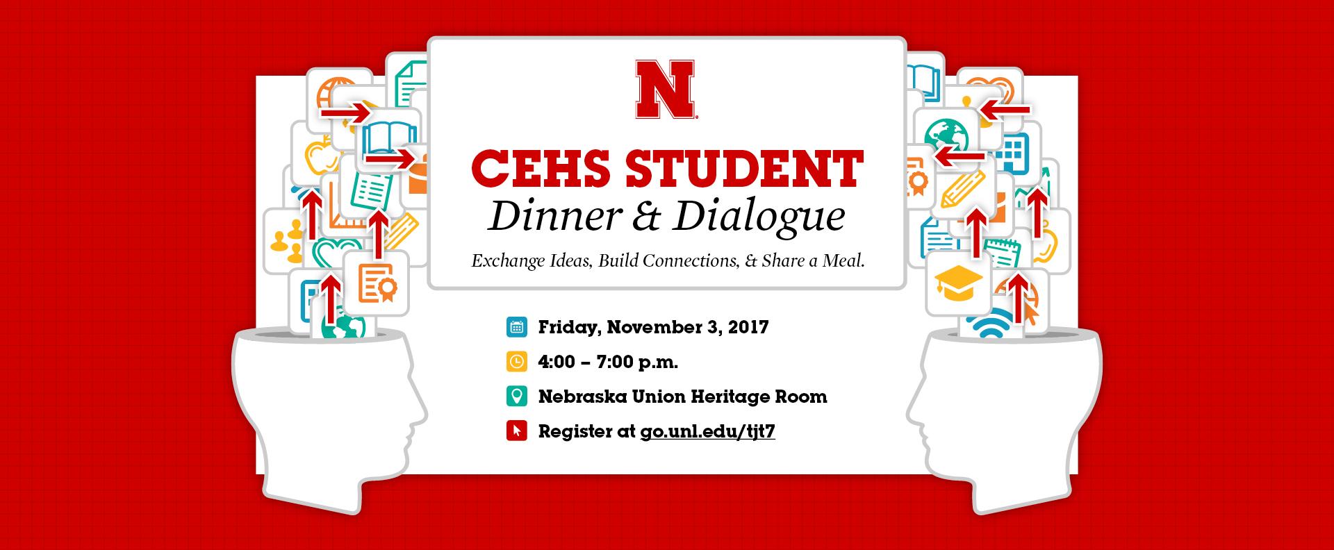 CEHS Dinner & Dialogue scheduled for Nov. 3.