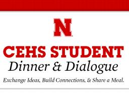 CEHS Dinner & Dialogue scheduled for Nov. 3.