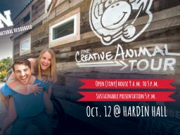 The Creative Animal Tour is coming to SNR on Oct. 12. | Courtesy image