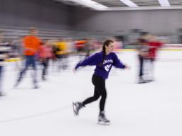 Free skate nights for students take place a few times each fall semester.