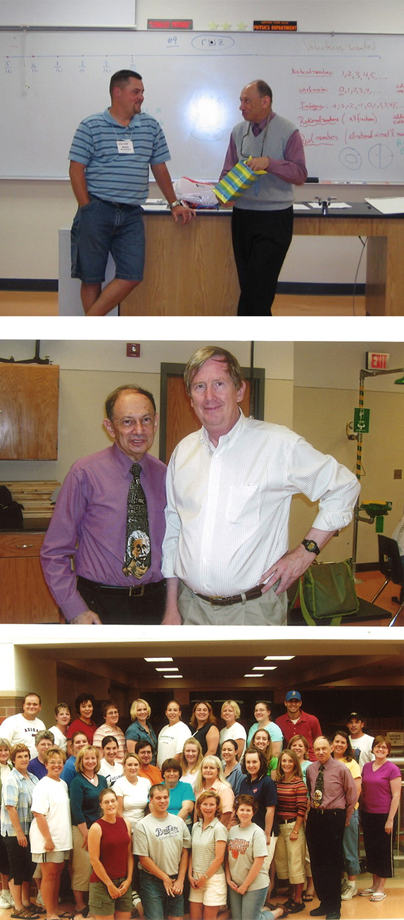 Photos of Ken Gross with Math in the Middle teachers