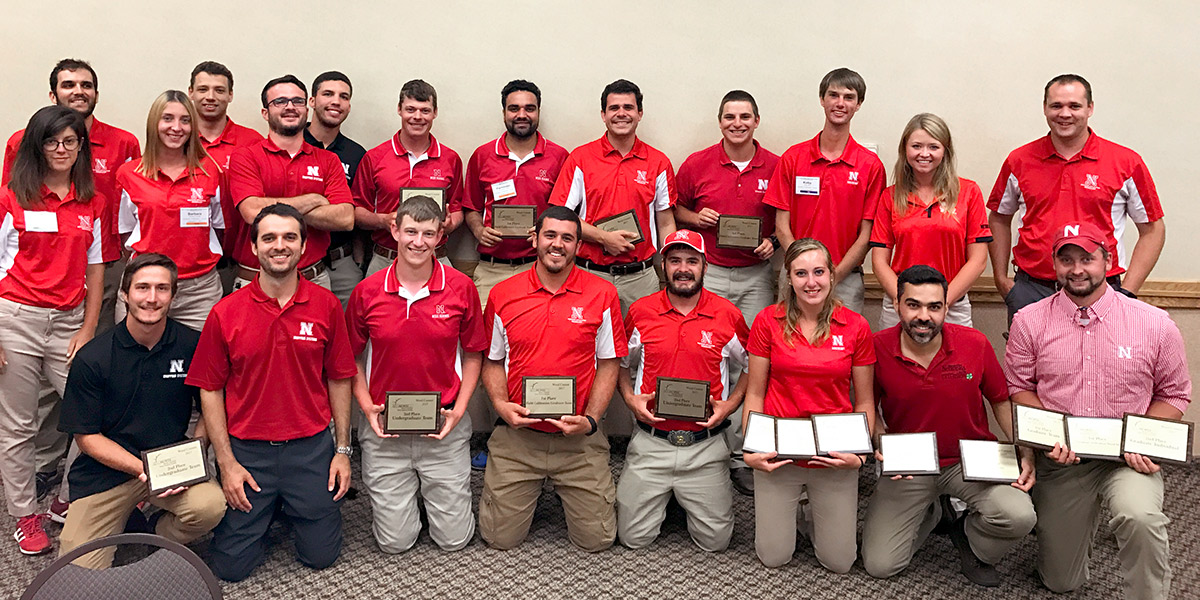 The University of Nebraska–Lincoln graduate student Weed Science Team took first place and the undergraduate team runner-up in the North Central Weed Science Society Student Weed Contest July 27 at Iowa State University.