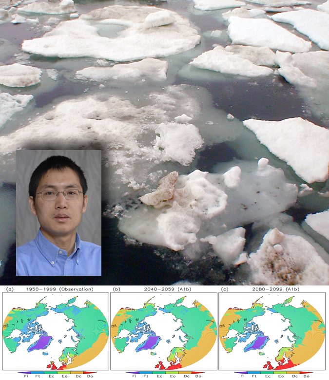 A research team that includes UNL's Song Feng has released a study that shows how Arctic climates are projected to reorganize.