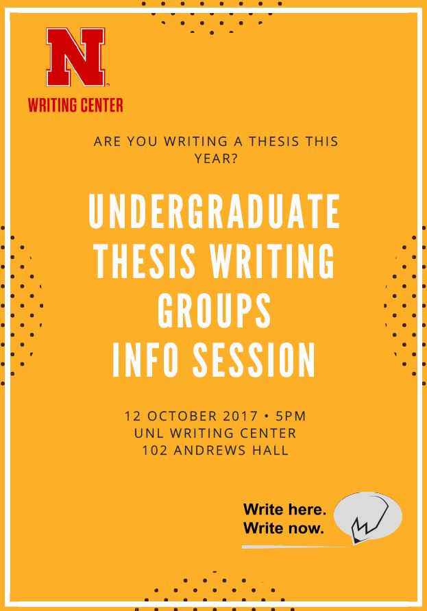 Writing a thesis?  Join a writing group.
