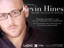 UPC Presents: Kevin Hines, suicide survivor and activist