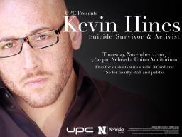 UPC Presents: Kevin Hines, suicide survivor and activist