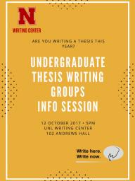Undergraduate Thesis Writing Groups Info Session