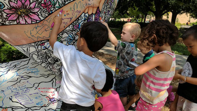Children and families at Ruth Staples Child Development Laboratory can now add their artistic flair to their own Nebraska by Heart.