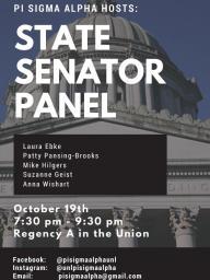 EVENT: State Senator Panel