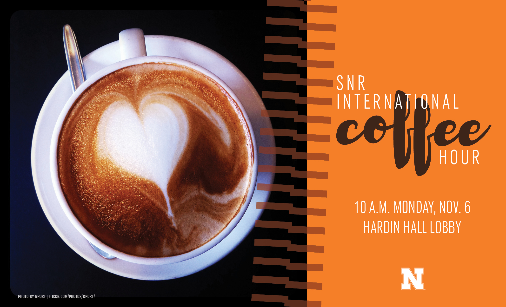 SNR is hosting an international coffee hour Nov. 6 in Hardin Hall.
