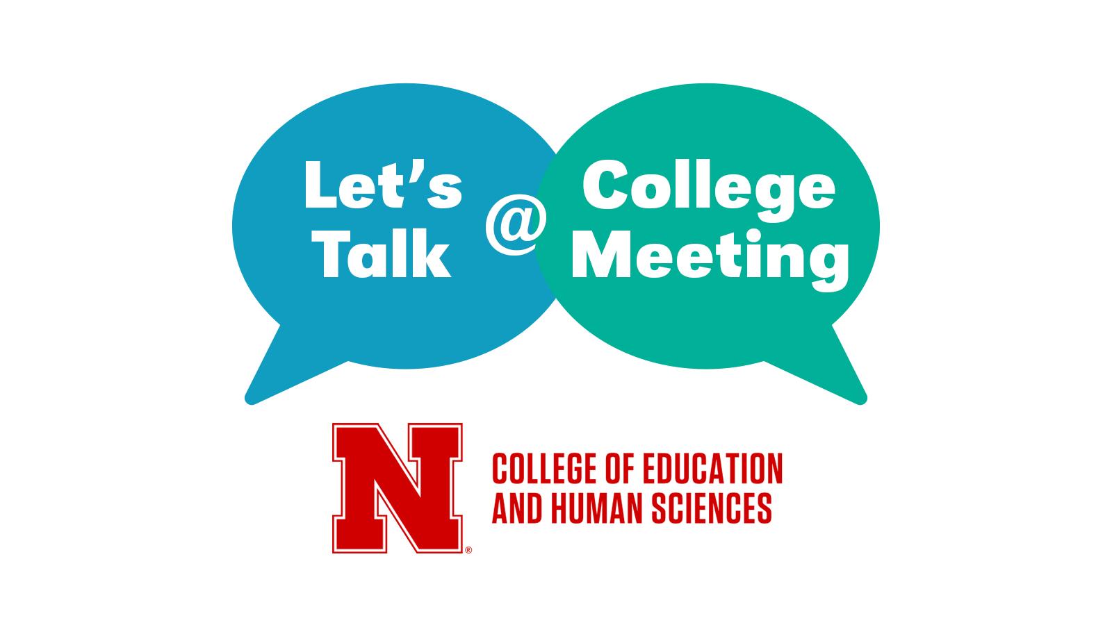 College meeting Feb. 9, 2018.