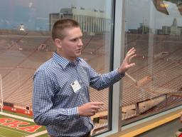 James Suddarth, an agricultural economics major from York, Nebraska, used last year's 3-2-1 Quickpitch competition to hone his business plan and go on to successfully compete in the University's New Venture competition.