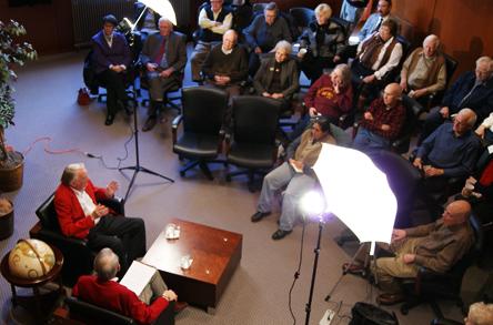 "John ""Jack"" Goebel talks UNL history during his Jan. 27 ""Oral History"" interview at the Wick Alumni Center."