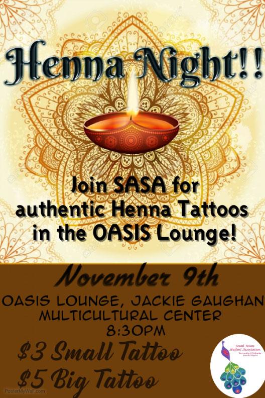 Henna Night flier