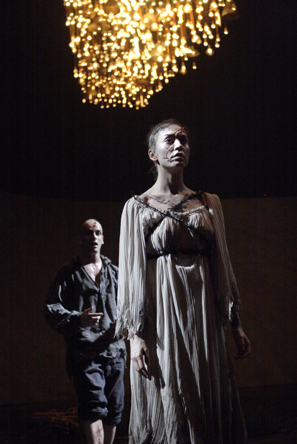 """Scene from the National Theatre Live's """"Frankenstein."""" Photo by Catherine Ashmore."""