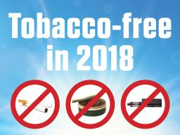 Campuswide ban of tobacco products begins Jan. 1, 2018.