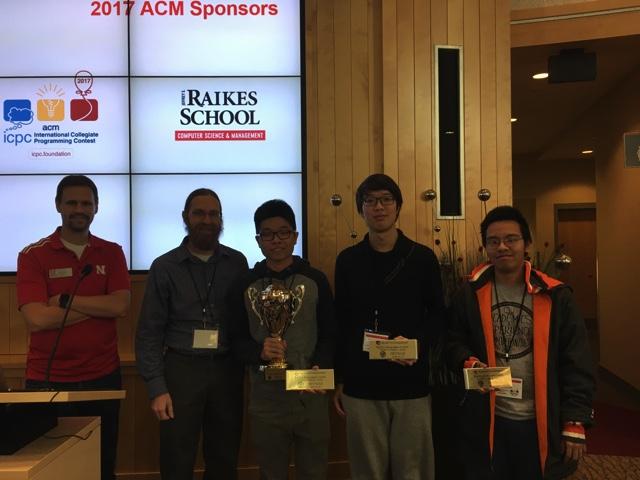 CSE team winners at the regional ACM Programming Contest.