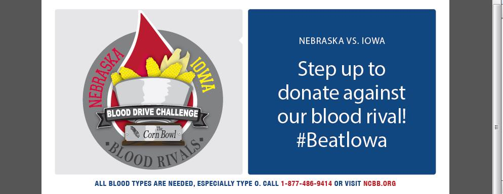 Sign up for the blood drive at ncbb.org!