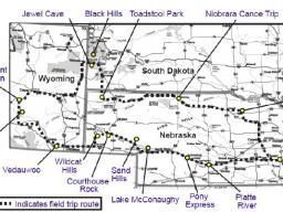 Field trip route