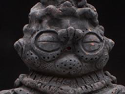 Shakōki Dogū Figure, Japan, Jomon Period. Ebisuda Site in Tajira, Miyagi Prefecture, 1000- 400 B.C.E. Earthenware, 34.2cm high. Reproduced by Connor Harter.