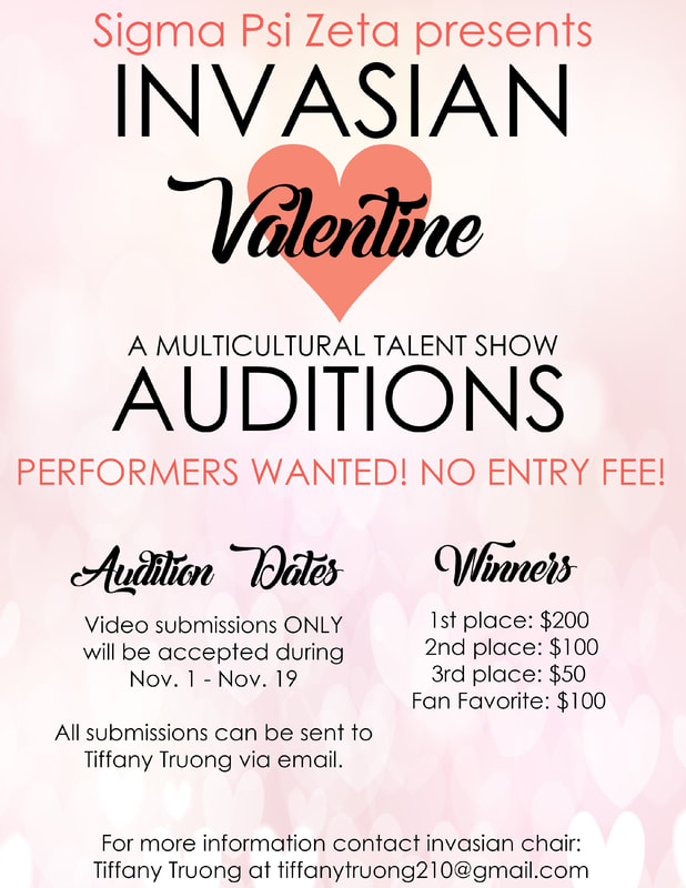 InvAsian 2018 Auditions are open!