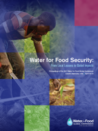 "Cover, 2017 Water for Food Global Conference Proceedings, ""Water for Food Security: From Local Lessons to Global Impacts."""