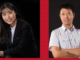 Wei Li (left) and Bingnan Mu.  AATCC Foundation Research Grant Receipients..