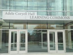 North Entrance of Adele Hall Learning Commons Good news! The Adele Hall Learning Commons will be open 24/7 for the last week of classes and finals week! Beginning 7:30am December 3rd, and finishing on at 2am on December 16th. Stay awhile and finish the se