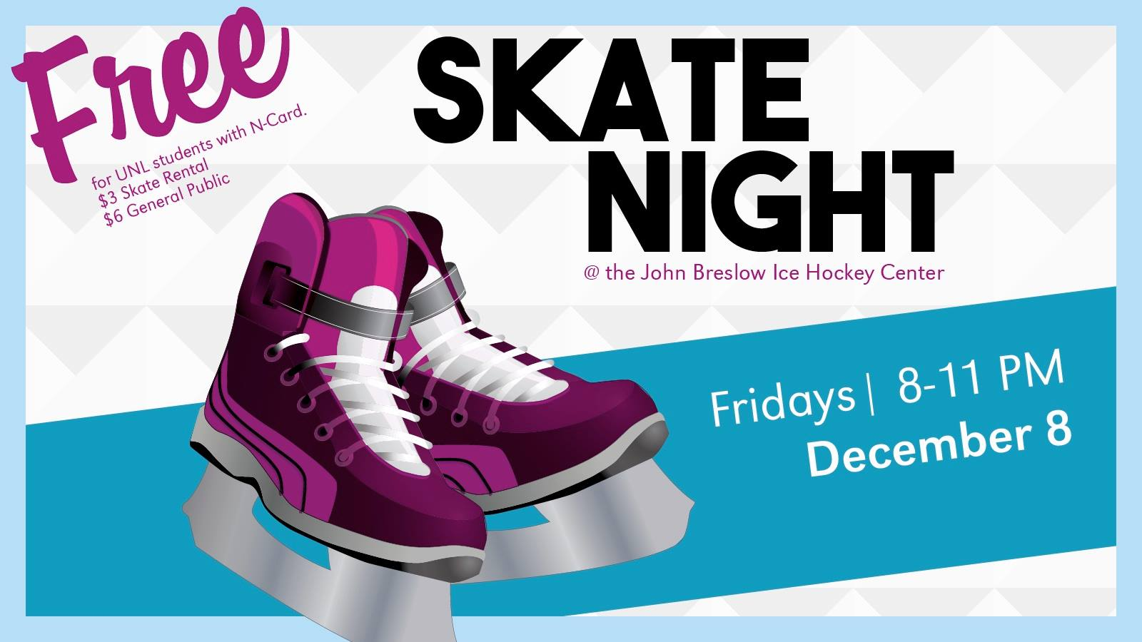 Free skate night sponsored by Campus Recreation