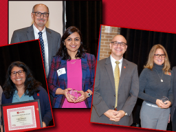 Left: CYAF Chair Rich Bischoff with Catia Guerrero; Center: IANR Vice Chancellor Ron Yoder with Dipti Dev; and Right: Jean Ann Fischer with IANR Chancellor Mike Boehm and Photos by Craig Chandler, University Communications.