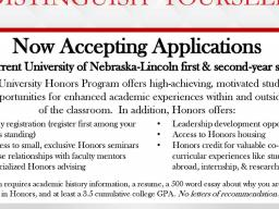 Apply today at https://honors.unl.edu/honors-campus-application.
