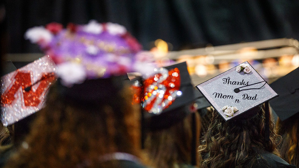 Pinnacle Bank Arena will host commencement ceremonies Dec. 15 and 16. | Craig Chandler, University Communication