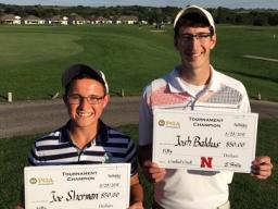 New Students Joe Sherman and Josh Baldus Winning the Fall Scramble at Crooked Creek.