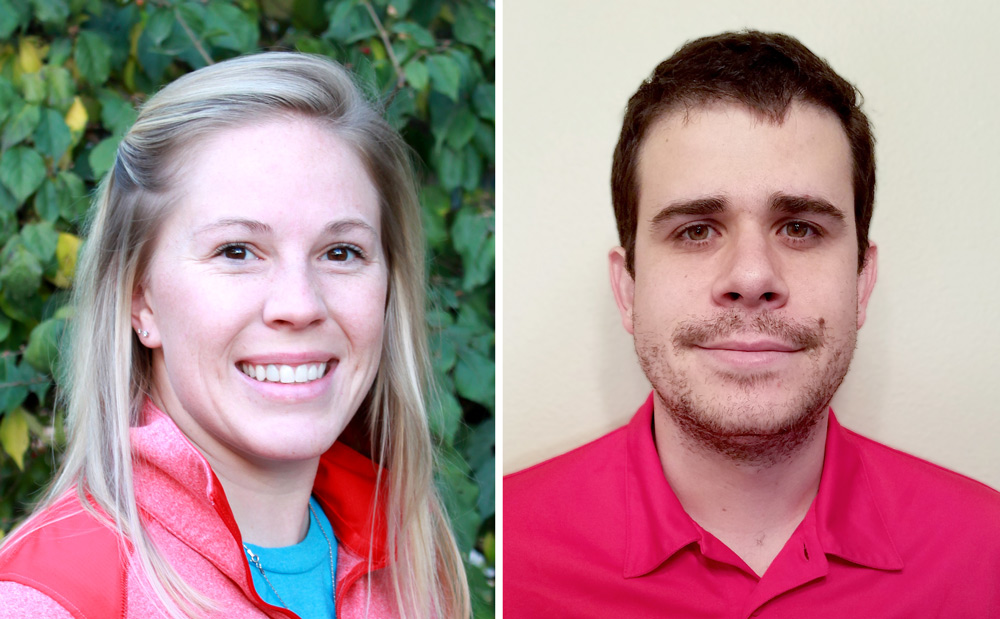 Amanda Easterly (left) and Bruno Canella Vieira are recipients of the distinguished Henry M. Beachell Fellowship.
