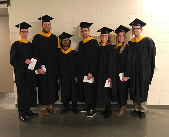Ten students graduated from the university's BSE program in December and have started reporting career plans.