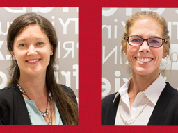 L-R, Janet Eckerson and Sarah Staples-Farmer have been named Practice Fellows in the Department of Teaching, Learning and Teacher Education.
