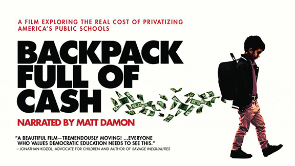"""Backpack Full of Cash"" will be screened at 12:30 p.m. Feb. 2 in TEAC 105."