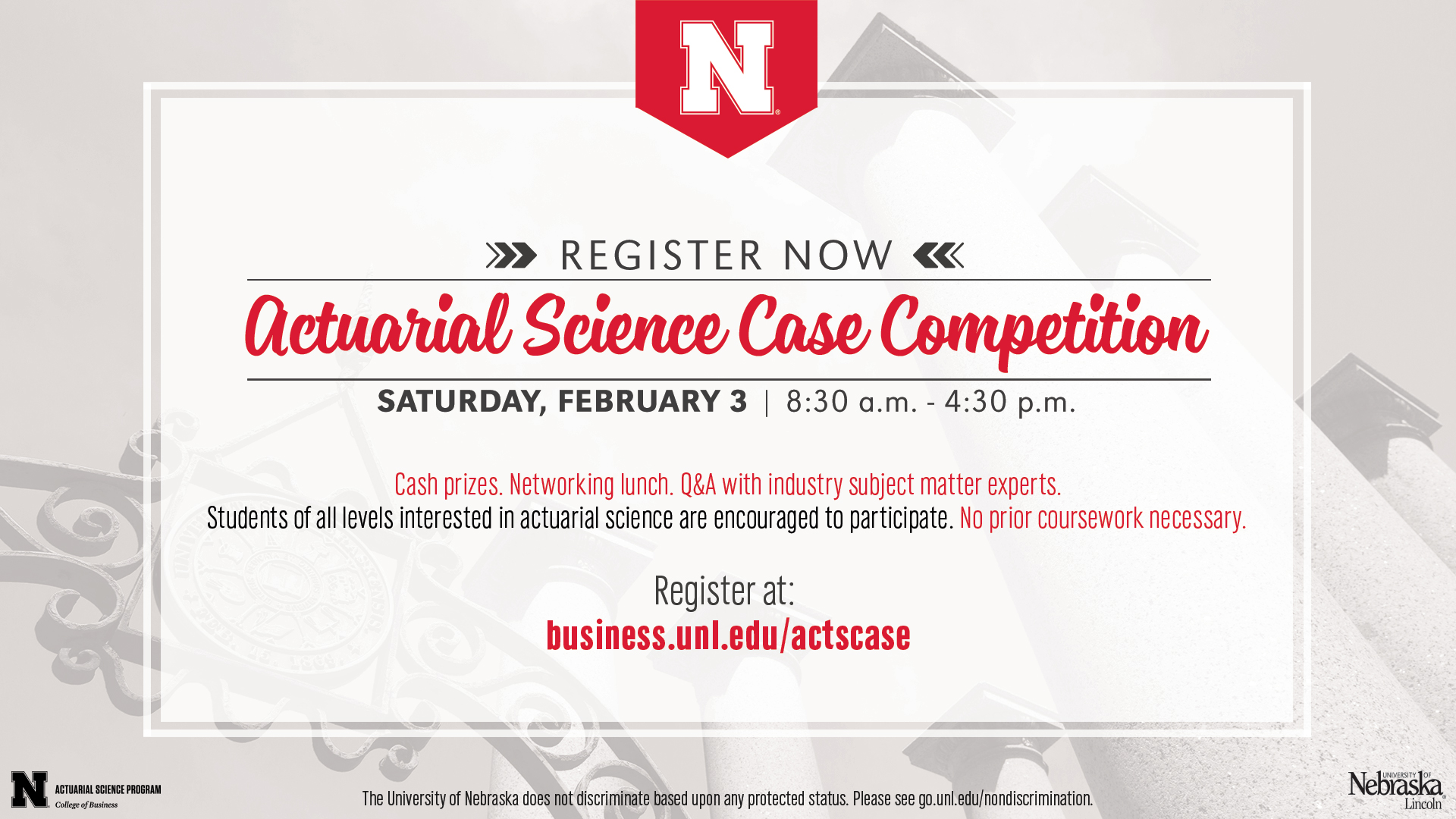 Compete In The Inaugural Actuarial Science Case Competition