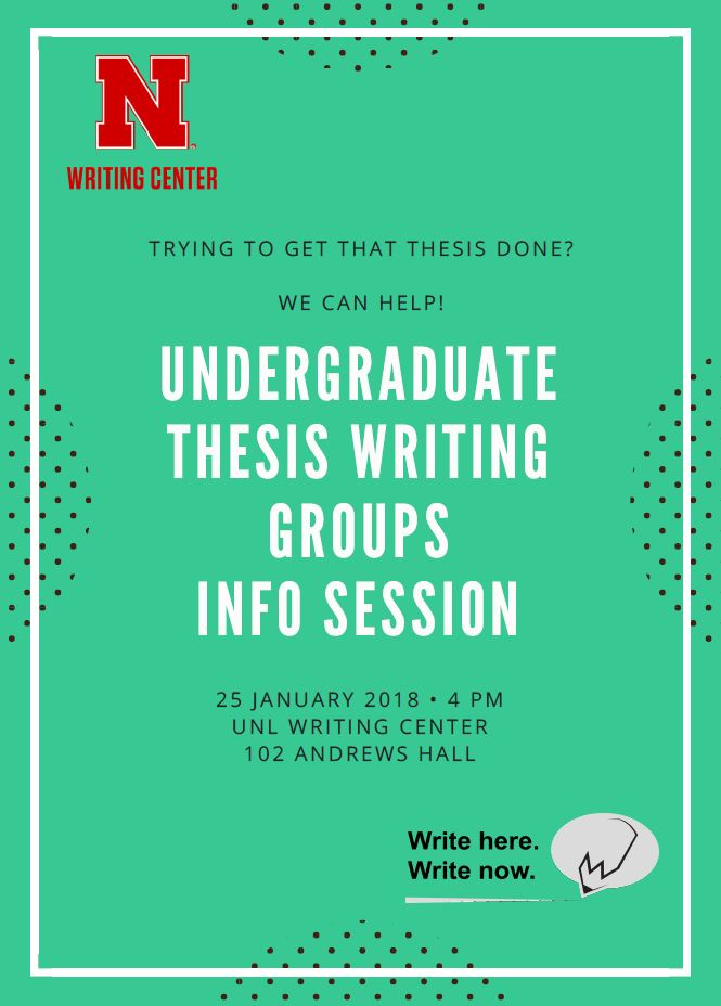 Undergraduate Thesis Writing Groups Info Sessions