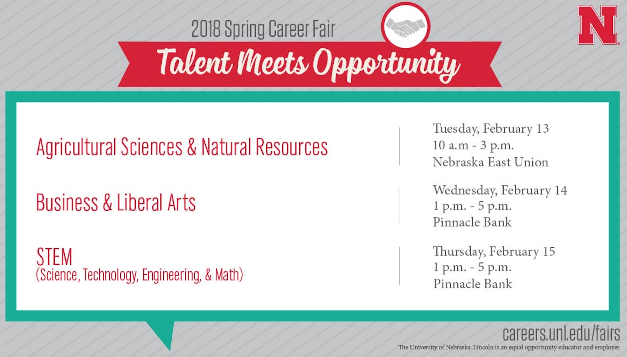 Spring 2018 Career Fairs Information