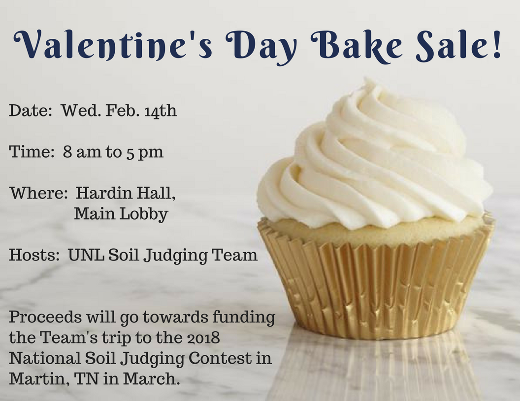 Valentine S Day Bake Sale Announce University Of Nebraska Lincoln