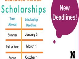 Education Abroad Scholarship Deadlines