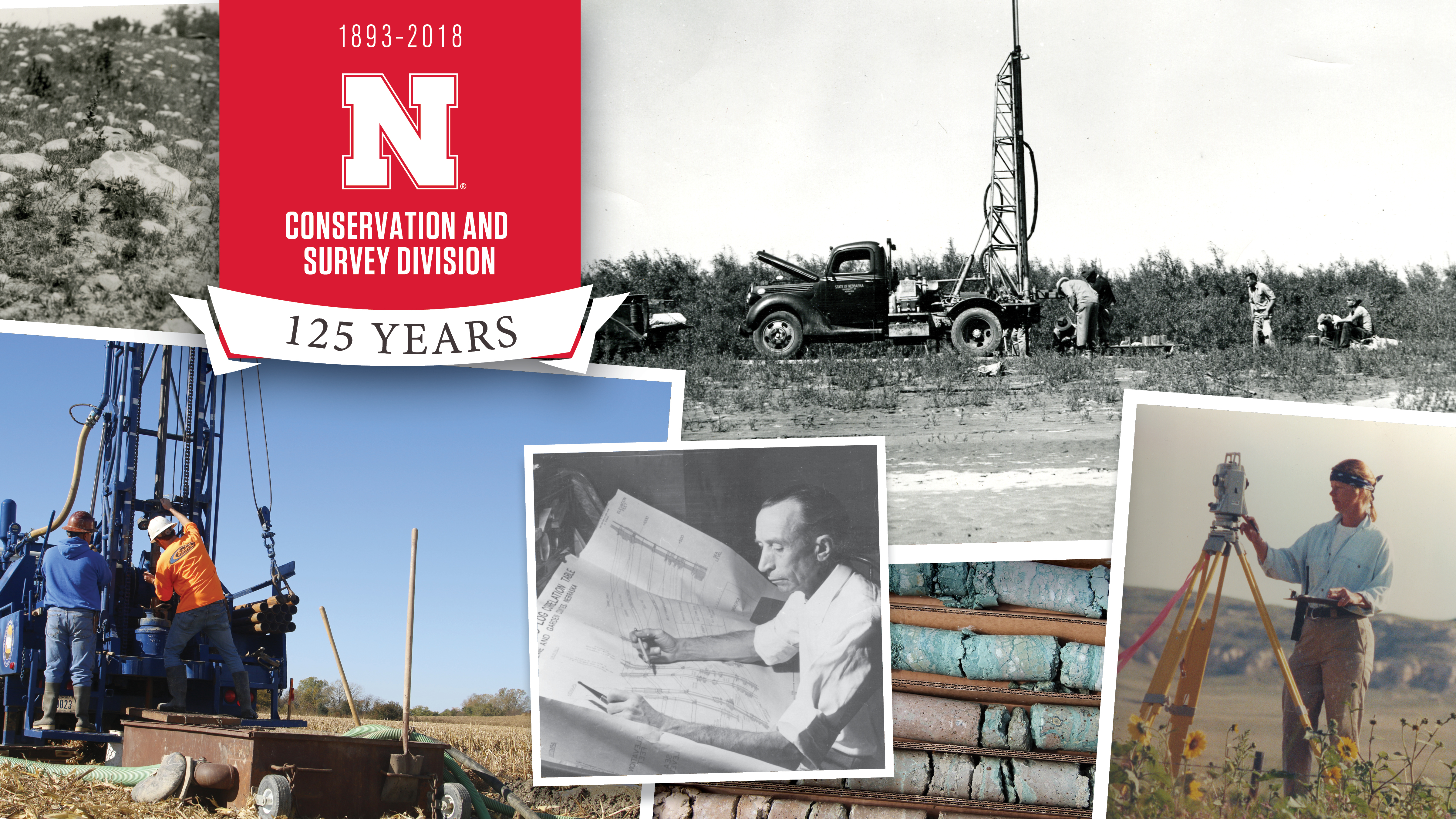 The Conservation and Survey Division is celebrating its quasquicentennial in 2018. | Courtesy images from SNR and UNL Archives.