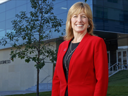 Dr. Kathy Farrell is the tenth dean of the College of Business.