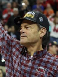 Husker volleyball coach John Cook.