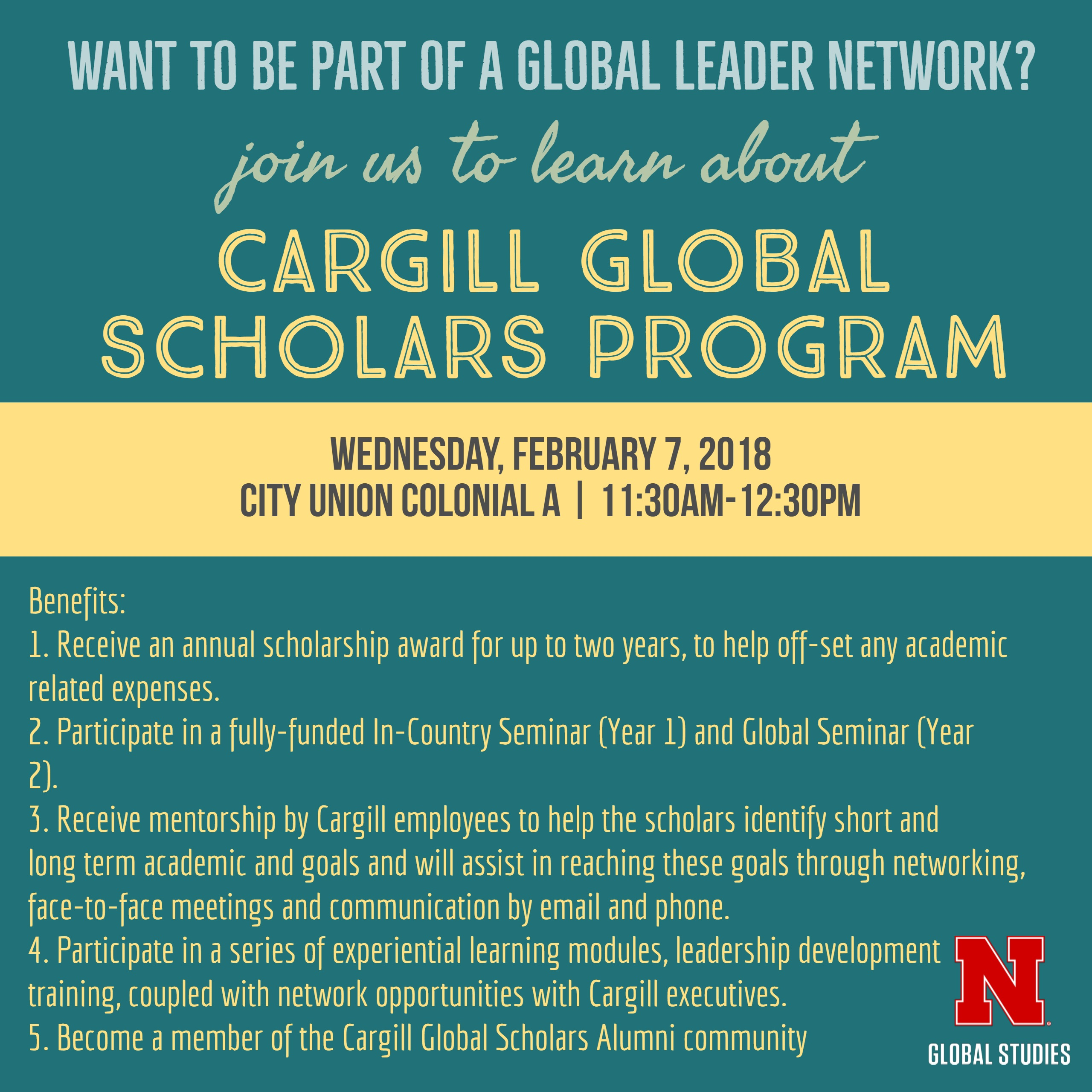 Information Session on a Global Leader Network