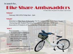 Volunteering Opportunity as Bike Share Ambassadors