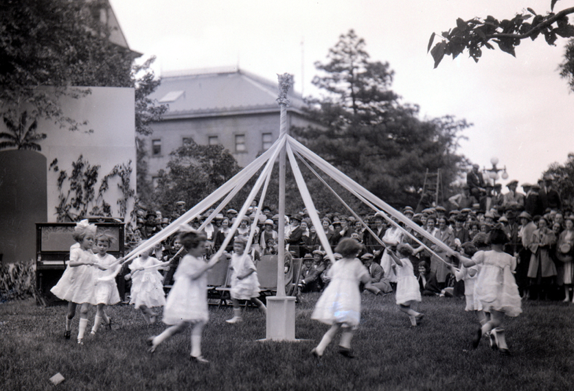 Children take part in an Ivy Day ceremony at the University of Nebraska in 1922. The ceremony dates back to 1889. Learn more about Ivy Days at http://go.unl.edu/3ox. Photo courtesy of the University Archives.