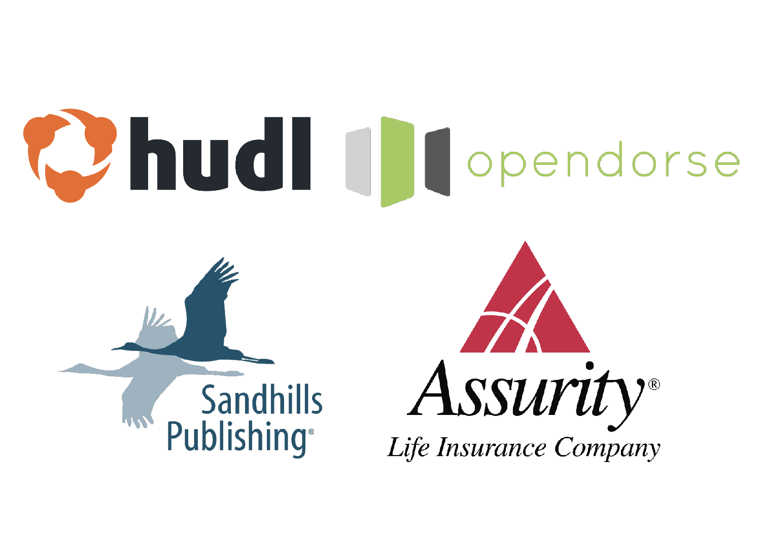 Hudl, opendorse, Sandhills Publishing, and Assurity