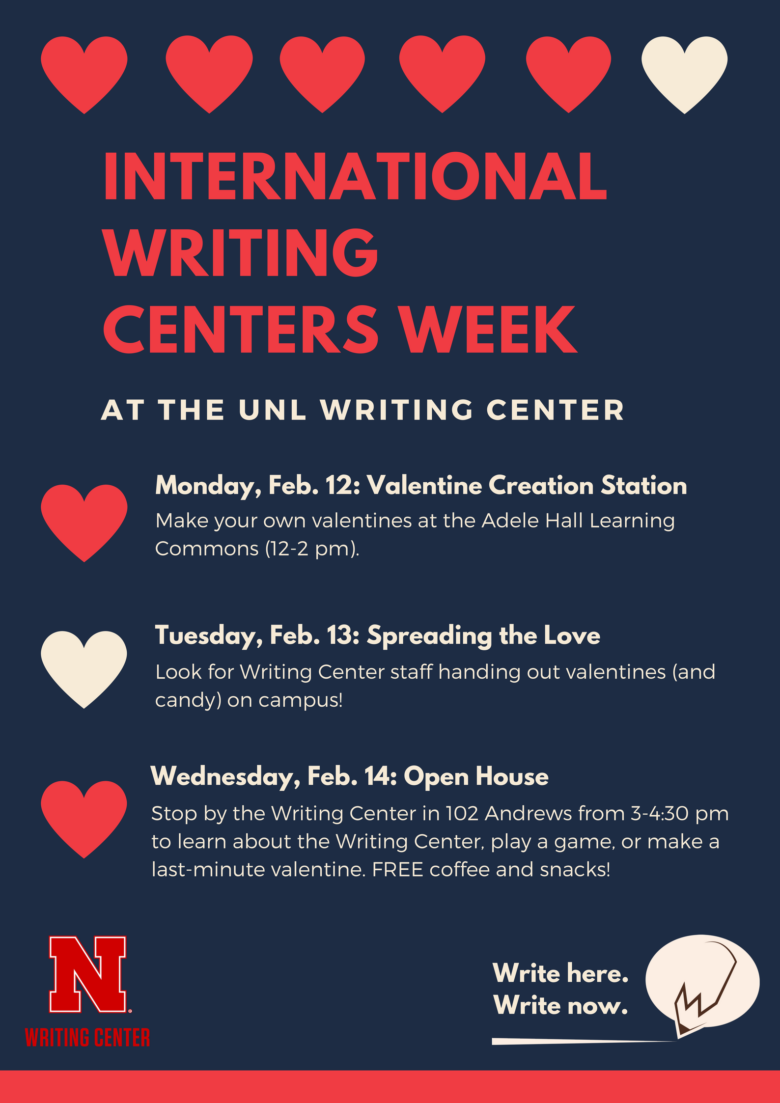 International Writing Centers Week at the Writing Center
